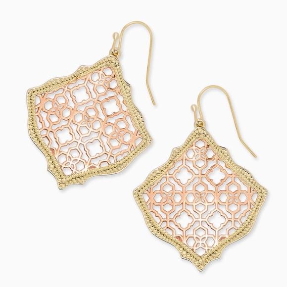 Kendra Scott Jewelry - KENDRA SCOTT • Kirsten Filigree Logo Drop Earrings
